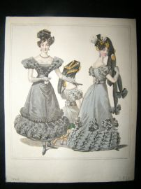 World of Fashion 1826 Hand Col Regency Fashion Print 01
